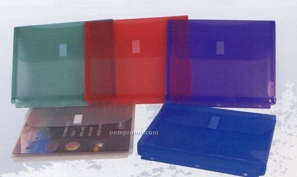 Clear Poly Ring Binder Envelope With Velcro Closure