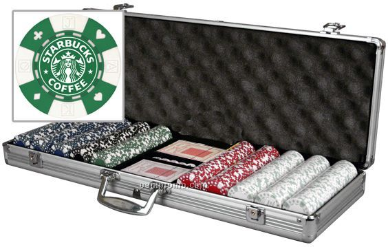Custom Labeled Poker Chip Set With Cards (500 Chip Set)