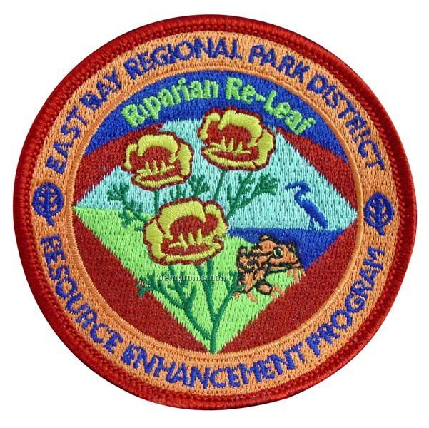 "Embroidered Patch W/ 90% Coverage (4 1/2"")"