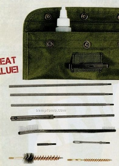 Gi Plus M-16 Rifle Cleaning Kit With Oil & Brushes