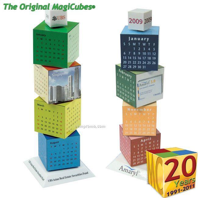 Magic Cubes Revolving Calendar Tower