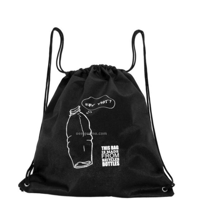 Rpet Cinch Bag - Post Consumer Recycled Material