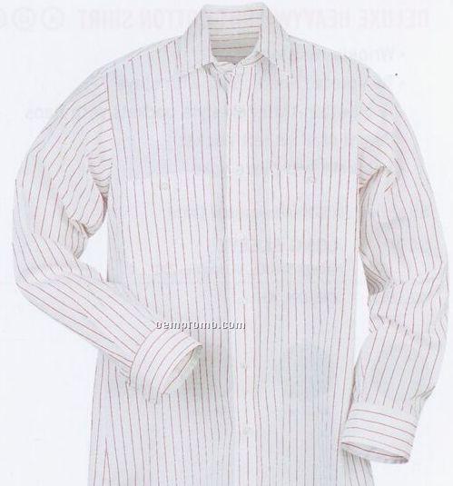Striped Dress Uniform Long Sleeve Shirt