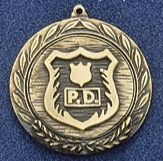 "2.5"" Stock Cast Medallion (Police Department)"