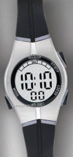Armitron All Sport Ladies Alarm Calendar Watch Black With Silver Face