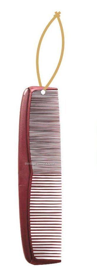 Comb Executive Ornament W Mirrored Back 4 Square Inch