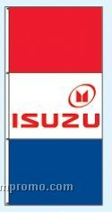 Double Face Dealer Rotator Drape Flags - Isuzu