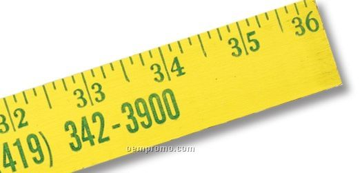 "Fluorescent Finish Yardstick (1 1/8"" Wide) - 1 Color"