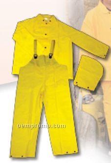 Fluorescent Orange Classic Protective Rain Suit/ Blank (2xl)
