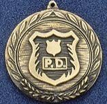 "1.5"" Stock Cast Medallion (Police Department)"