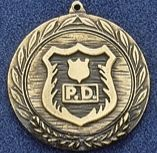 "1.5"" Stock Cast Medallion (Police Department)"