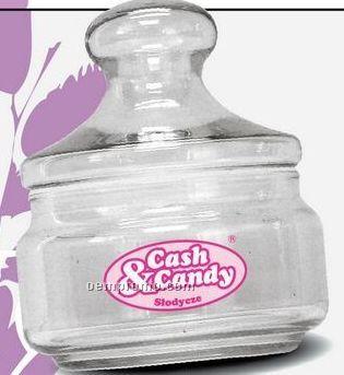 8 Oz. Clear Knob Top Glass Jar