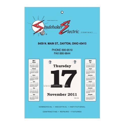 "Sullivan Daily Dates Bookbound Calendar W/ 4 1/4""X4 3/4"" Pad (10 1/2""X14"")"
