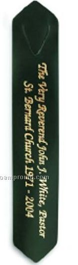 "Top Grain Leather Pointed Bookmark (1-1/4""X7"")"