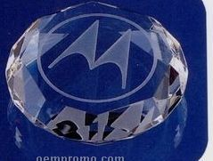 "2-3/4""X3/4"" Optical Crystal Octagon Paperweight (Screened)"