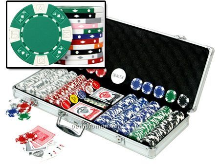 500 Ace-king ABS Composite 11.5 Gram Poker Chip Set With Cards