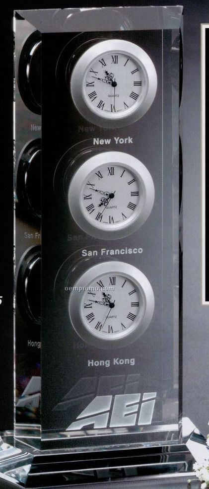 Clock Gallery Crystal Trilogy Clock