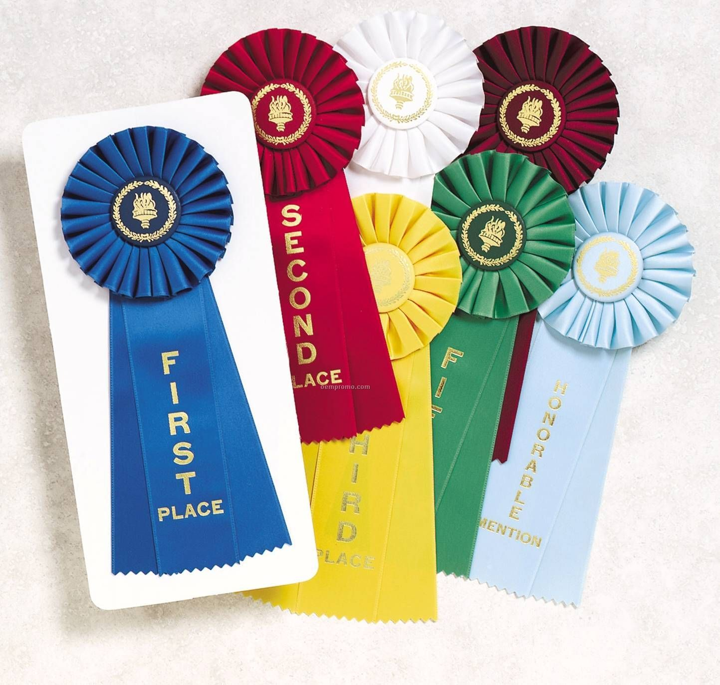 Rosette Ribbon - 4-12   X 11   First Place Ribbon Red