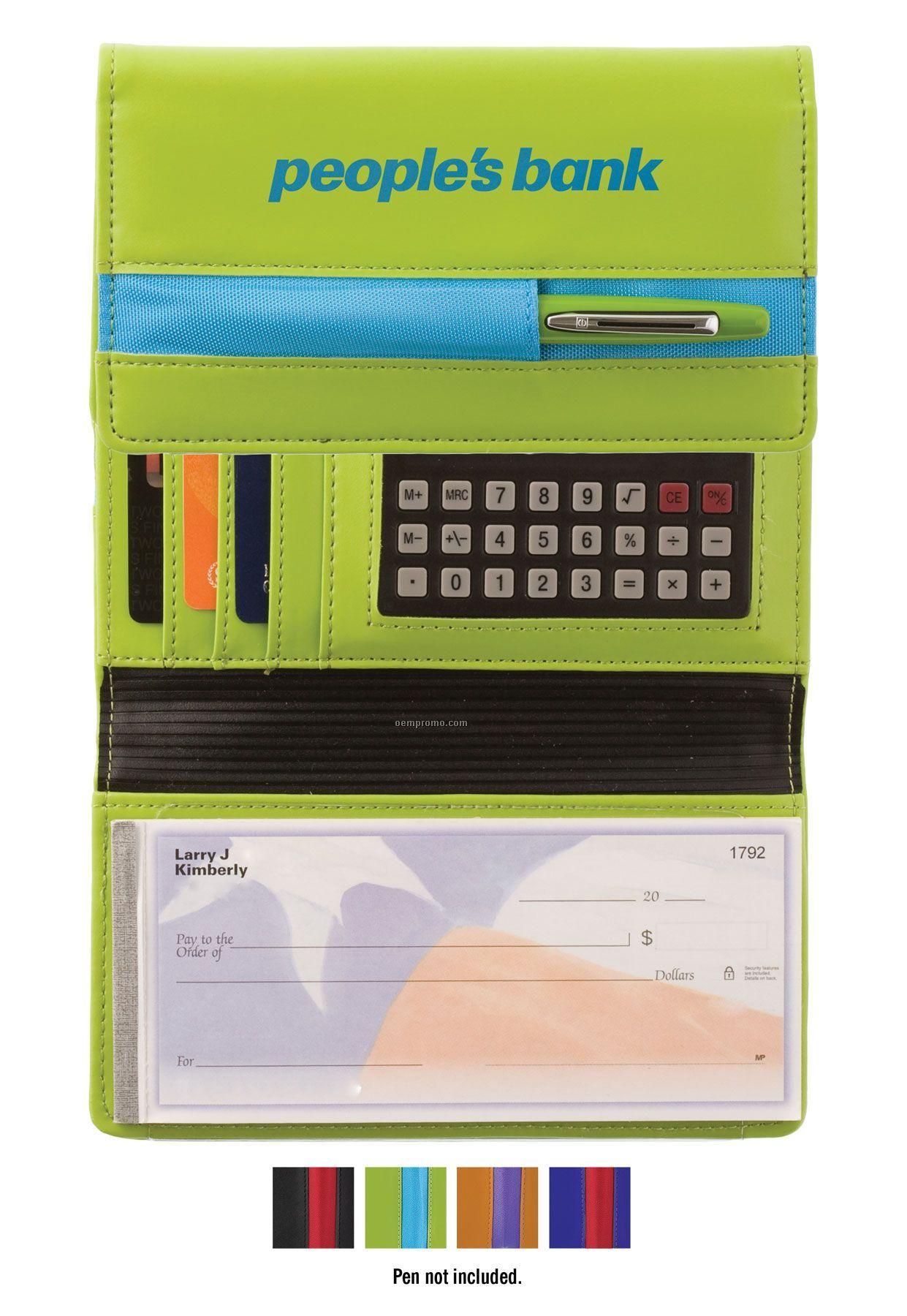 Cargo Colors Checkbook Cover W/Calculator