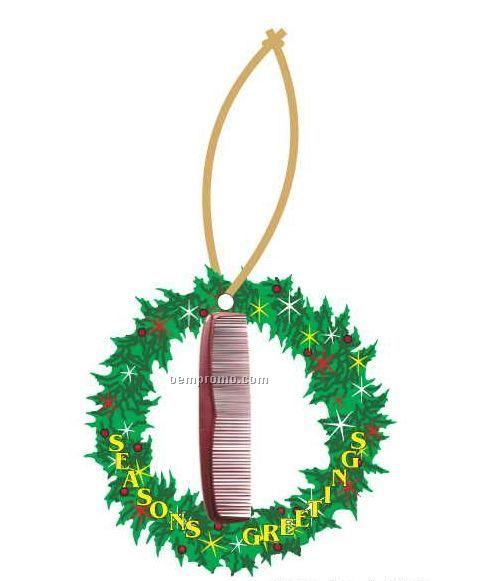Comb Executive Wreath Ornament W/ Mirrored Back (6 Square Inch)