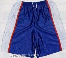 "Cool Mesh W/ Piping Youth Athletic Shorts W/ 7"" Inseam (S-xl)"