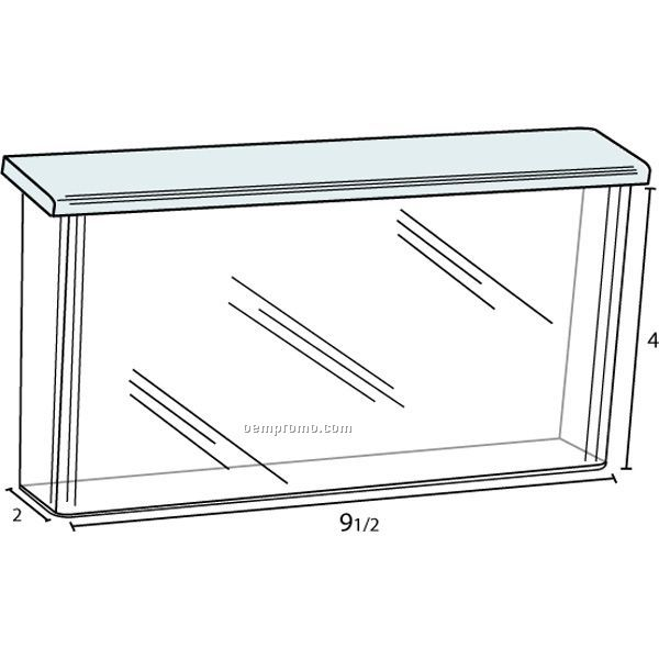 Flip Top Outdoor Box For 9'' Wide X 4'' High Take One Brochures