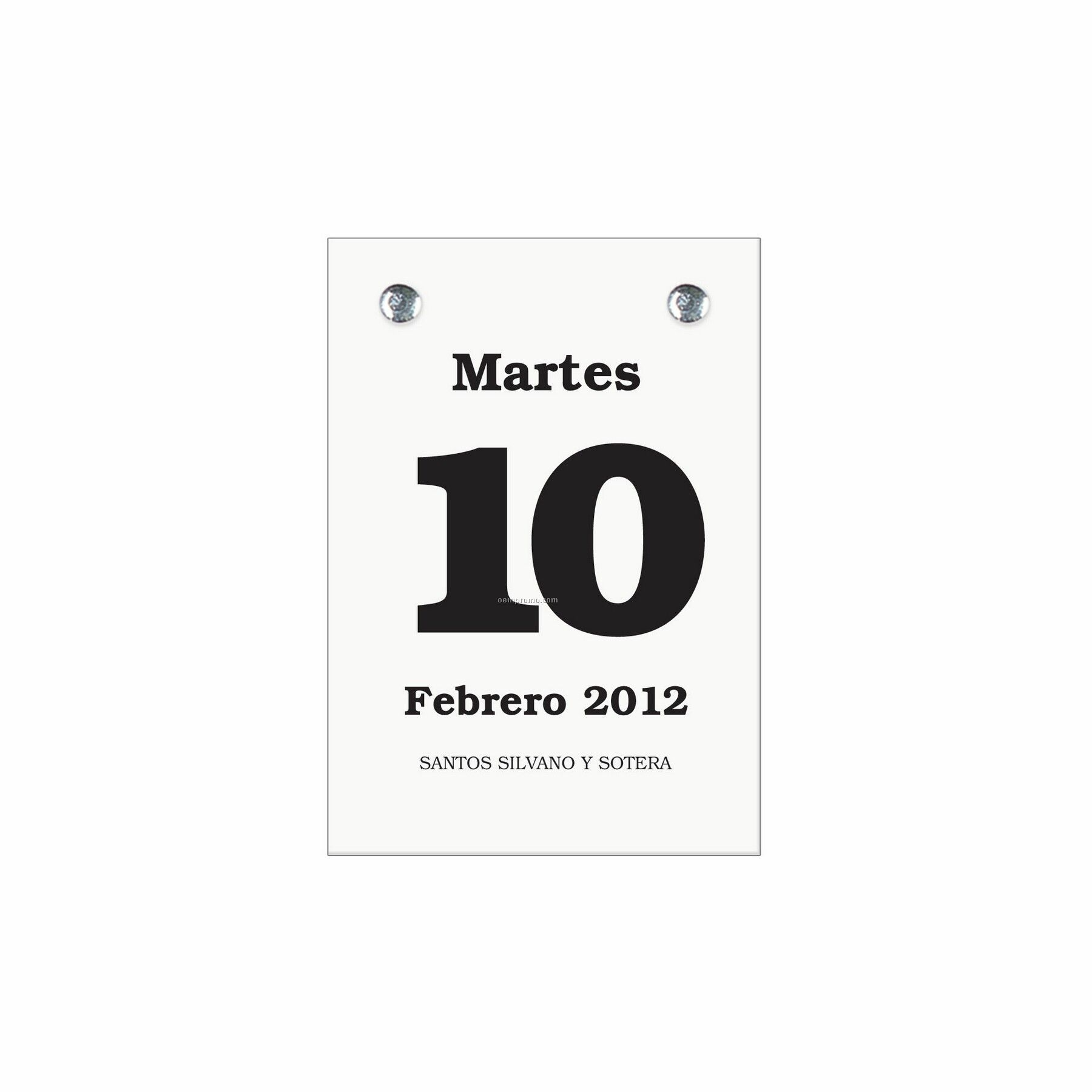 Spanish Daily Dates