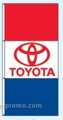 Stock Double Face Dealer Rotator Drape Flags - Toyota