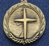 "2.5"" Stock Cast Medallion (Religious Cross)"