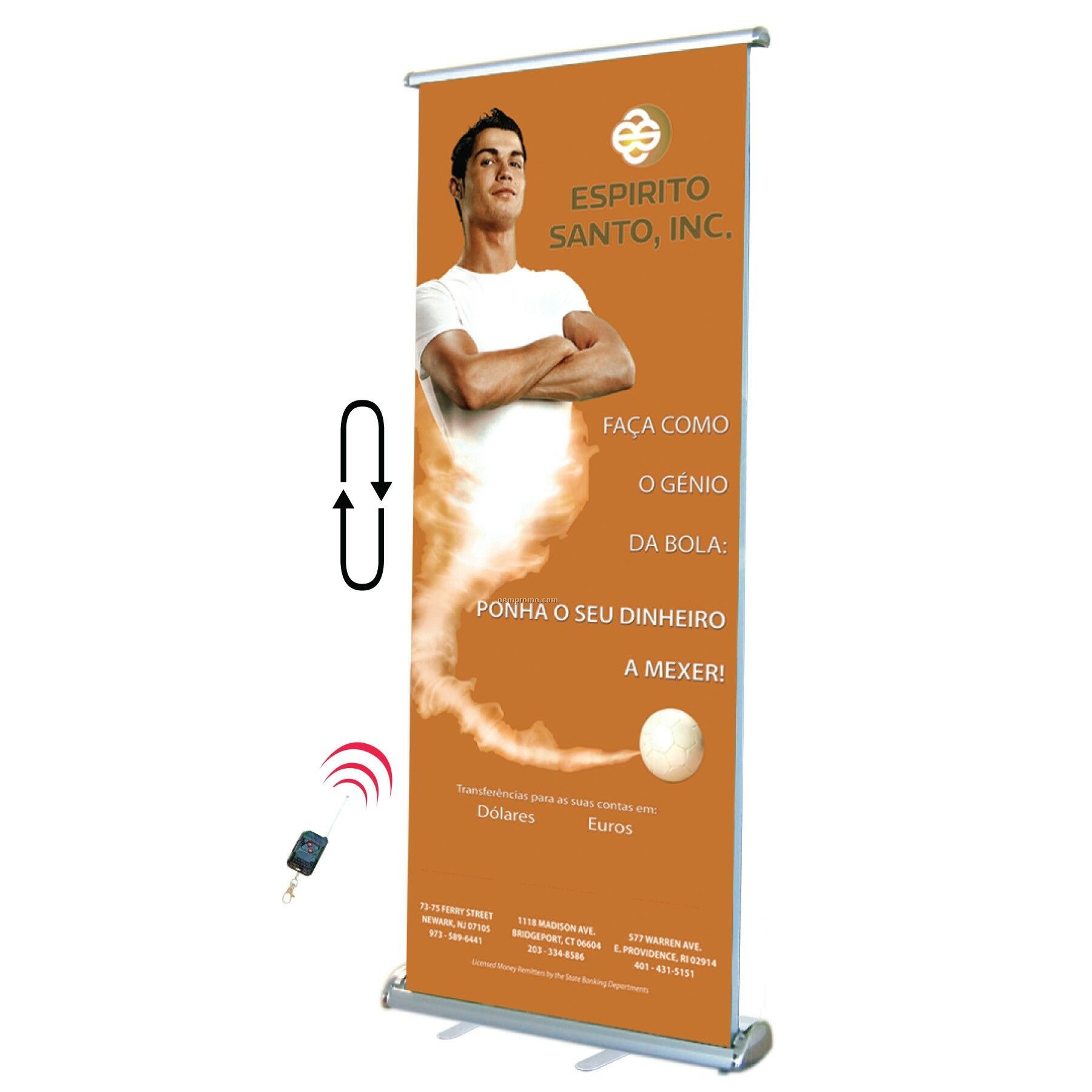 Trade Show Rotating Banner W/Remote (7' Tall)