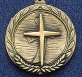 """1.5"""" Stock Cast Medallion (Religious Cross)"""