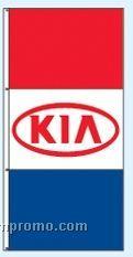 Double Face Dealer Rotator Drape Flags - Kia