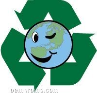 Go Green Stock Temporary Tattoo W/ Recycle Earth (1.5