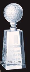 Large Optical Crystal Golf Award