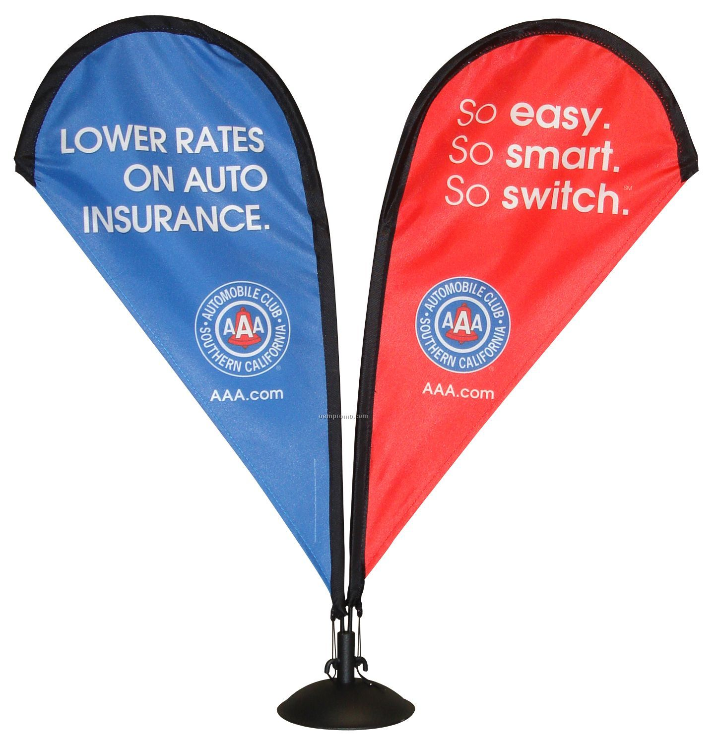 """14"""" Table Top Double Sided Teardrop Banner & Stand"""