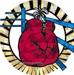 """Sunburst Hologram Mylar Insert - 2"""" Boxing"""