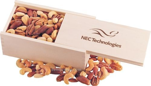 Wooden Collector's Box W/ Deluxe Mixed Nuts