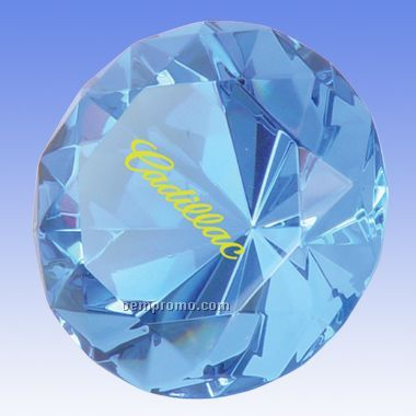 "2 -3/8"" Diamond Shaped Crystal (Screened)"