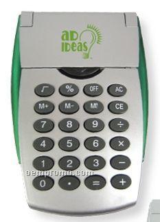 Flip Open Calculator W/ Green Sides (Printed)
