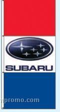 Stock Double Face Dealer Rotator Drape Flags - Subaru