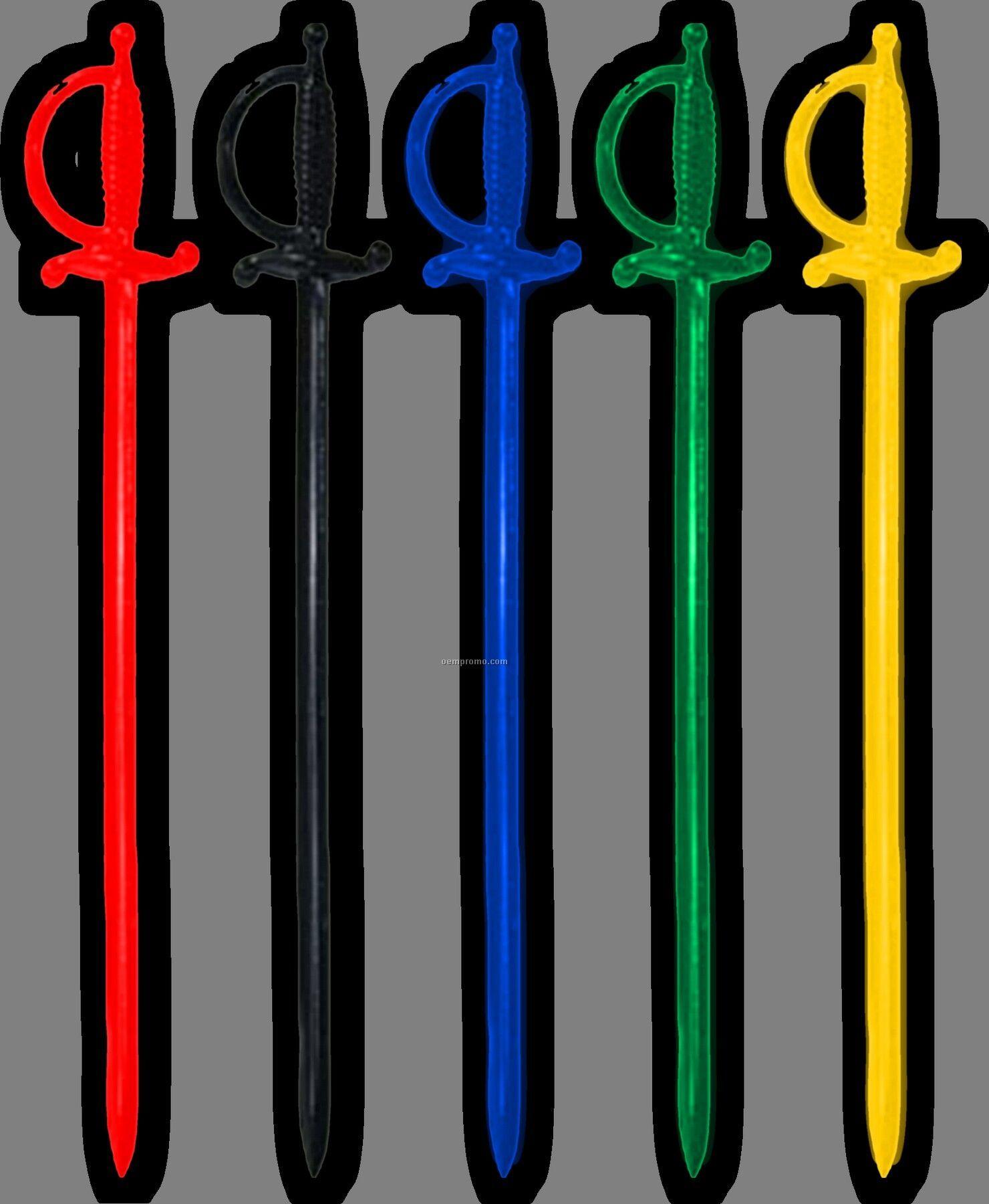 """D62 3.25"""" Sword Pick (Assorted Colors)"""