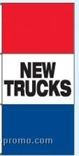 Double Face Stock Message Rotator Drape Flags - New Trucks