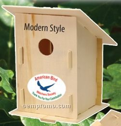 Outdoor Wood Birdhouse Kits