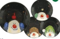 Snowman Specialty Dishes (4 Piece Set)