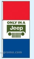 Stock Double Face Dealer Rotator Drape Flags - Only In A Jeep