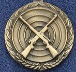 "2.5"" Stock Cast Medallion (Rifles Crossed)"