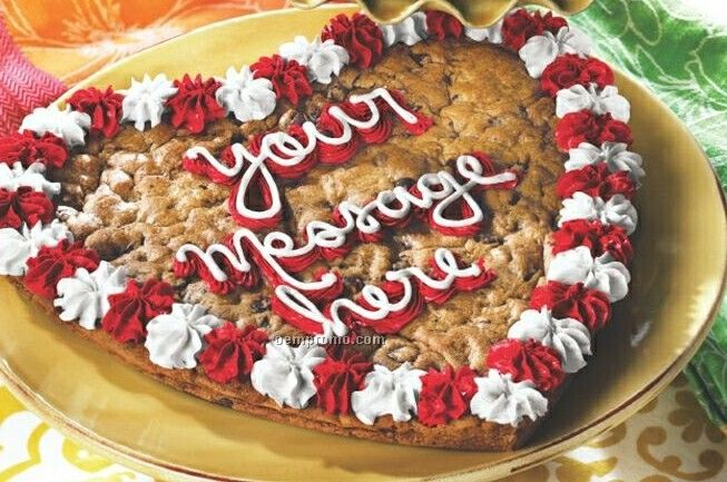 Heart Shaped Big Cookie Cake