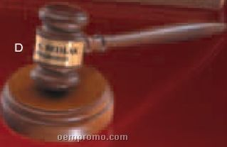 Walnut Gavel With Engraved Band