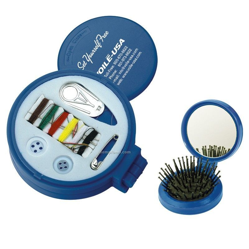 3-1 Sewing Kit W/ Mirror And Brush