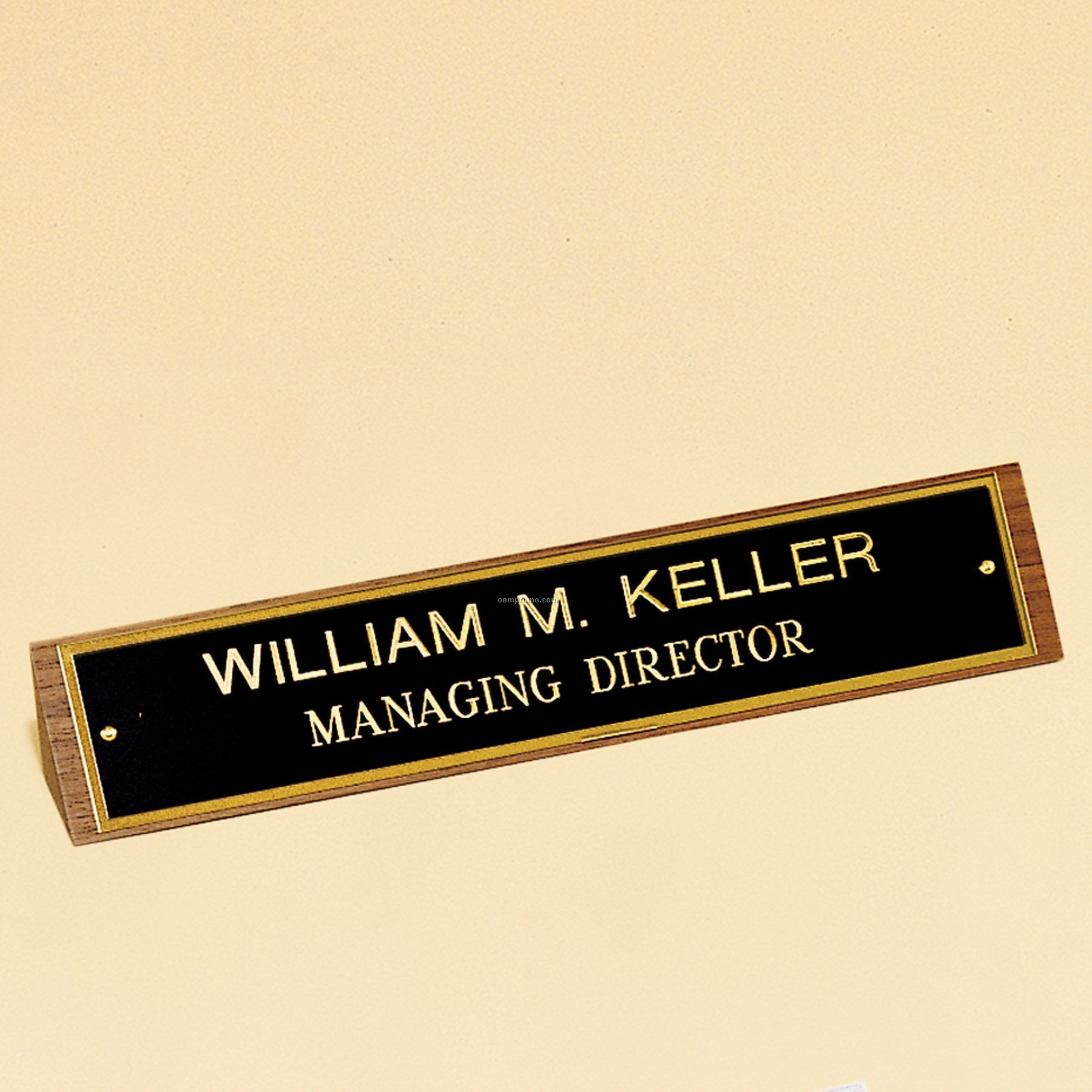 Name Plate Rotary Engraved Satin Brass 3 W X 12 H